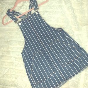 Garage striped denim dress